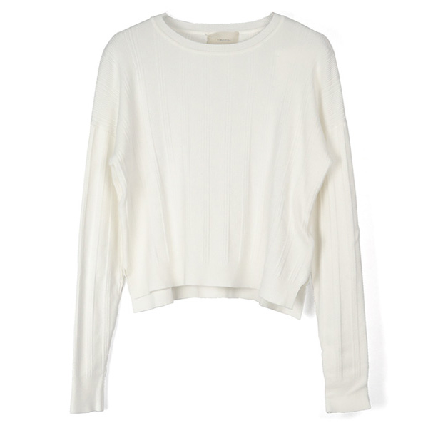 Randomrib Crewneck Knit/OFF WHITE