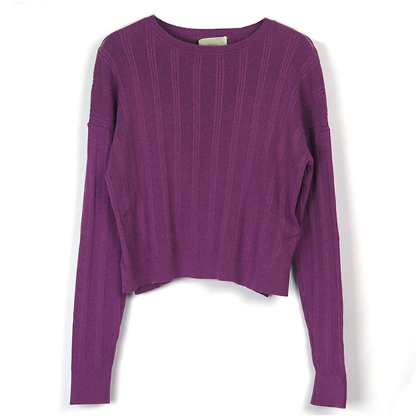 Randomrib Crewneck Knit/PURPLE