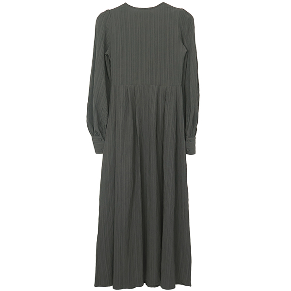 Crape Geogette Dress/CHARCOAL GRAY