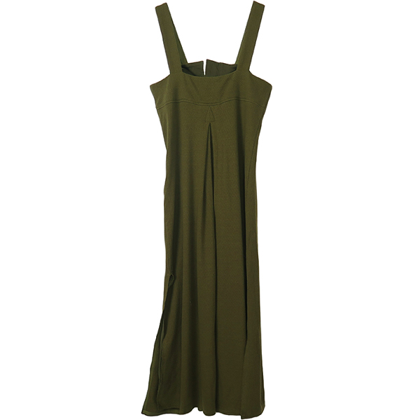 Thermal Salopette Dress/KHAKI
