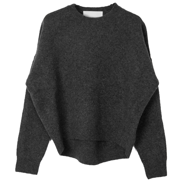 Roundhem Yak Knit/GRAY