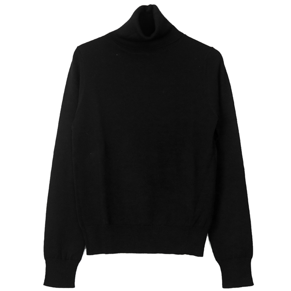 Soft Turtle Knit/BLACK