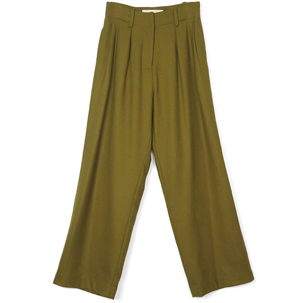 Wool Stretch Pants/OLIVE