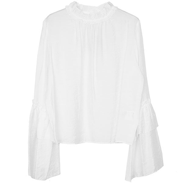 FLARE SLEEVE BLOUSE/WHITE