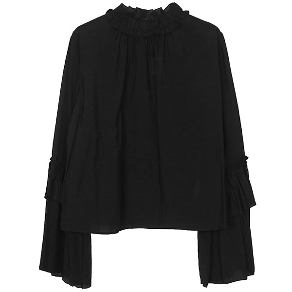 FLARE SLEEVE BLOUSE/BLACK