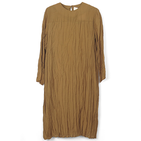 Satin Washer Dress/CAMEL