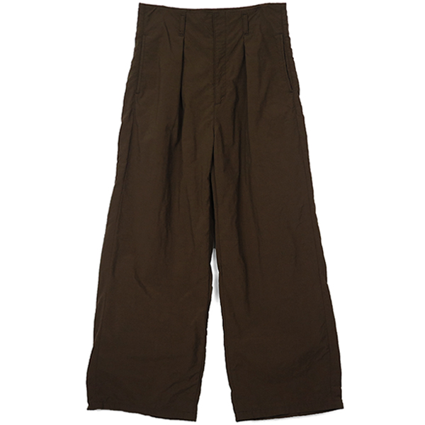 Boyfriend Nylon Pants/BROWN