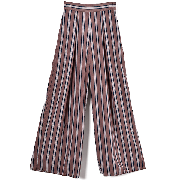 Stripe Tuck Pants/D.PINK