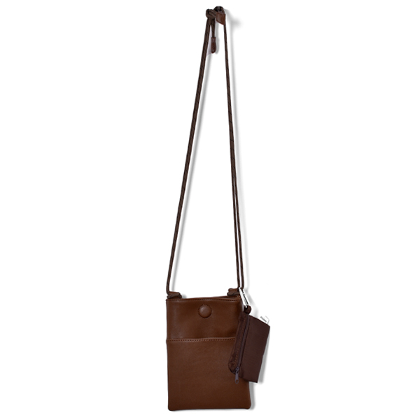 Leather Mini Sacoche/BROWN