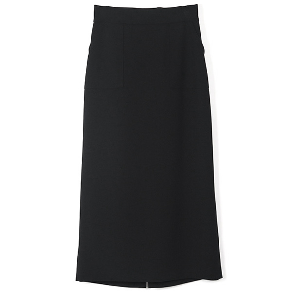 POCKET BASIC SKIRT/BLACK