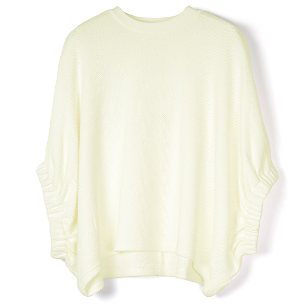 CROPED BALLOON TOPS/WHITE