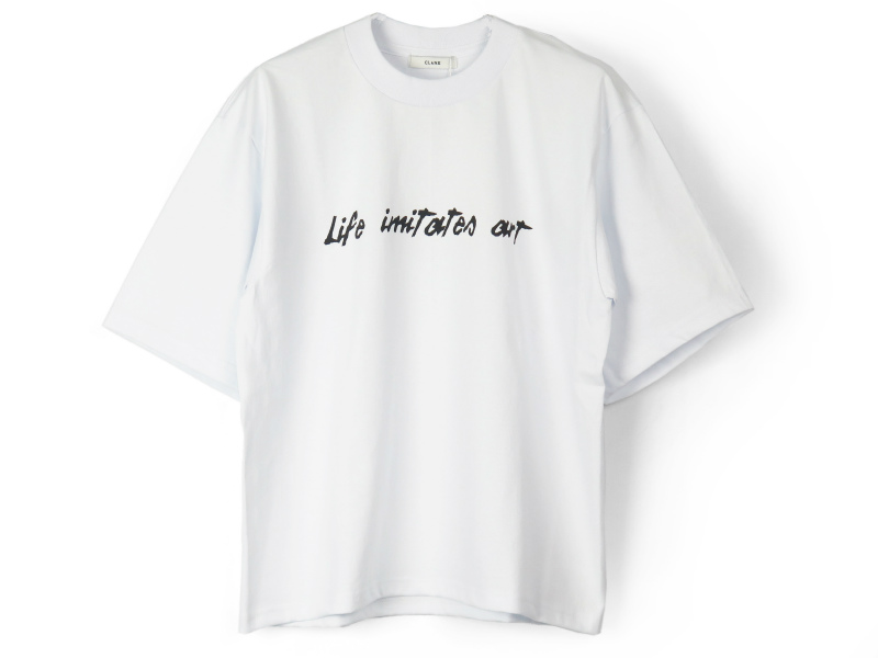 BRUSH WRITING T/S/WHITE