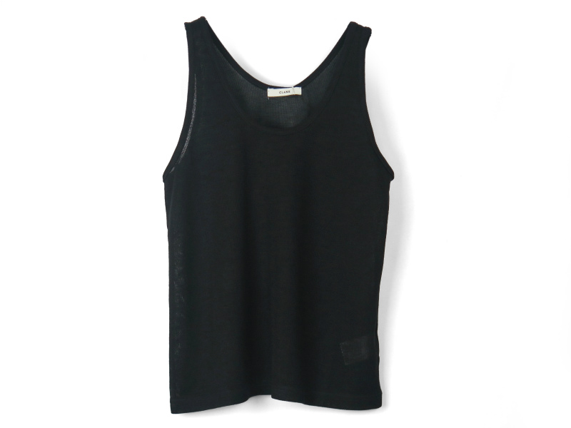 SLAB YARN TANK TOP/BLACK
