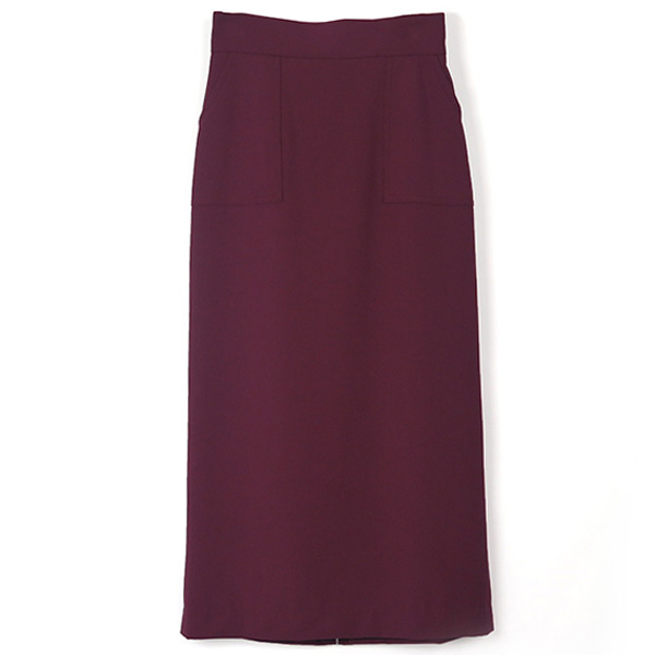 POCKET BASIC SKIRT/PURPLE