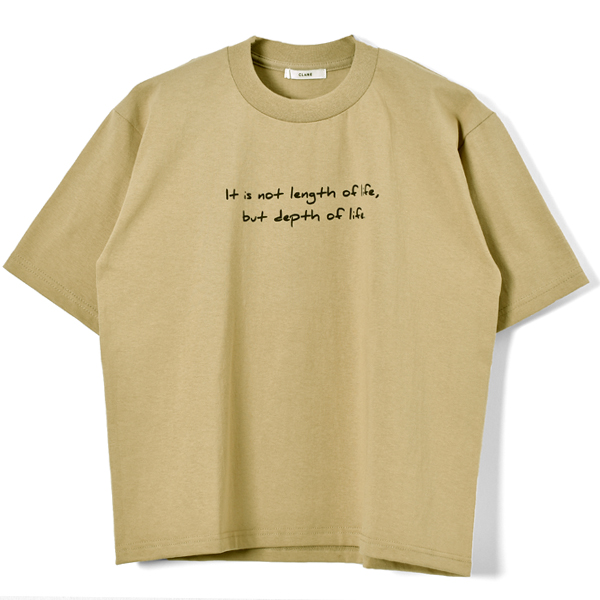 HANDWRITING T/S/BEIGE