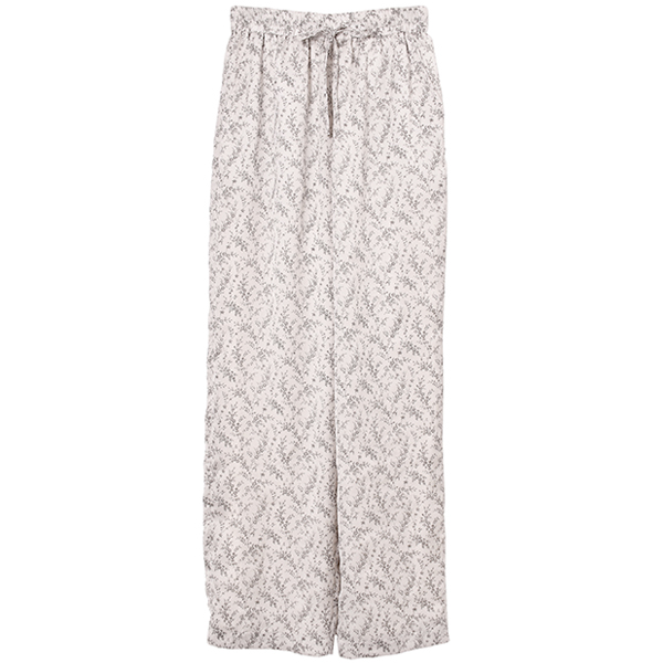 PETIT FLOWER WIDE PANTS/WHITE