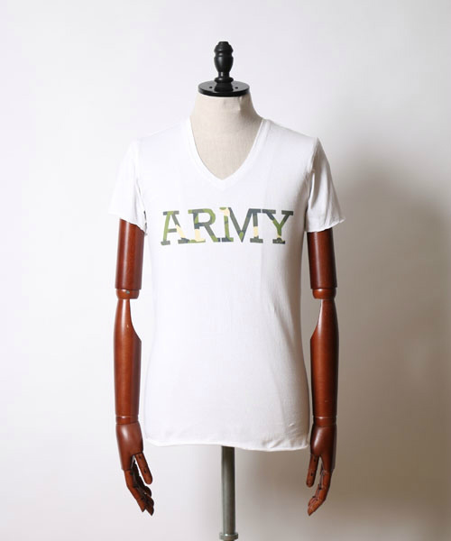 cut-off ARMY-print C/S