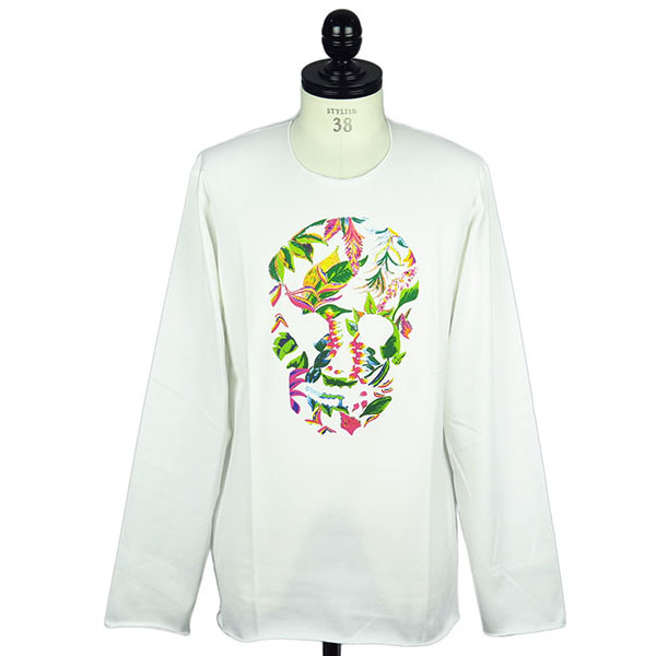 NATURAL SKULL LONG SLEEVE T-SHIRT