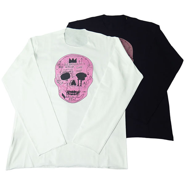 PINK SKULL LONG SLEEVE T-SHIRT