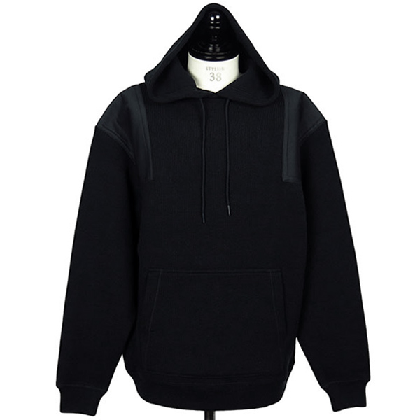 SURPLUS RIB TWILL COMBO PULLOVER HOODIE