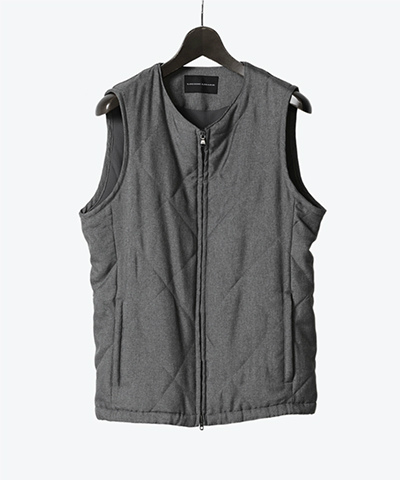 WOOL LIKE SERGE VEST(5673)