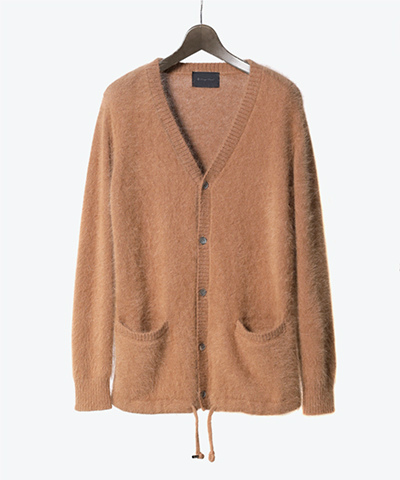 ANGORA NYLON KNIT CARDIGAN(2518)