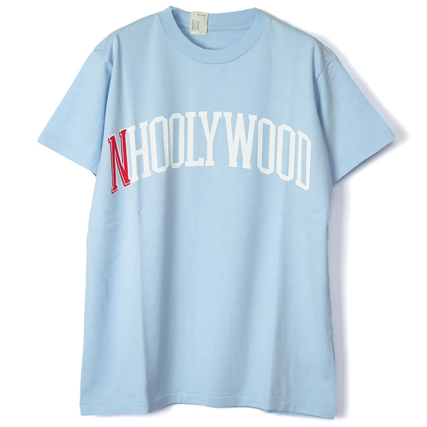 PRINT T-SHIRTS/LIGHT BLUE