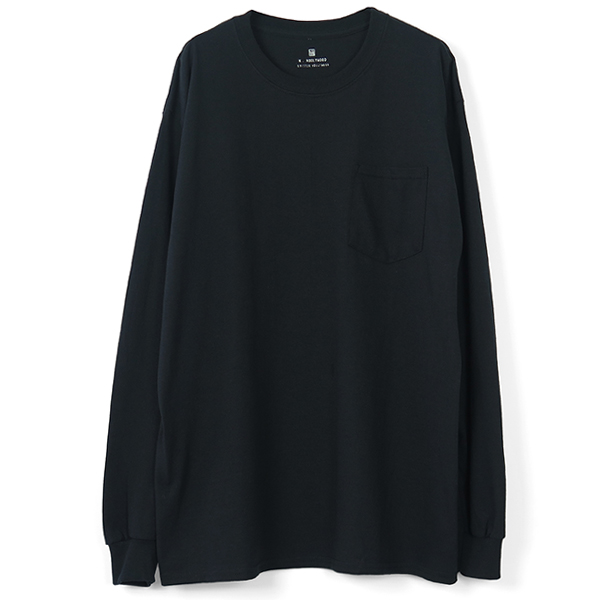 BACKPRINT L/S T-SHIRTS/BLACK