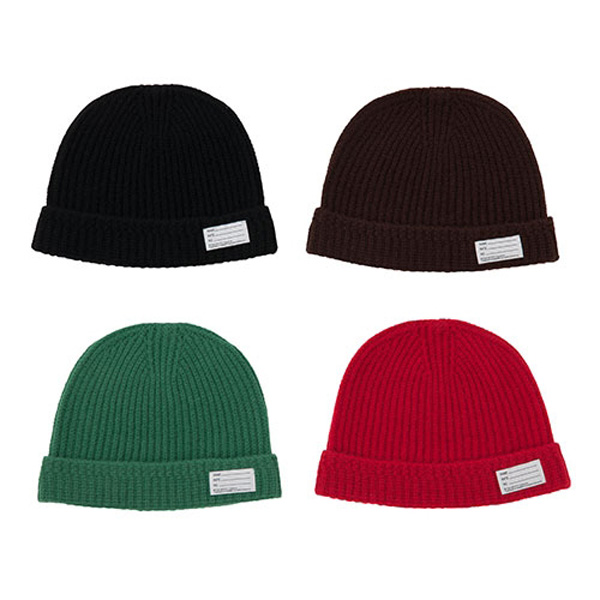 KNIT BEANIE/BLACK/BROWN/GREEN (WOOL)