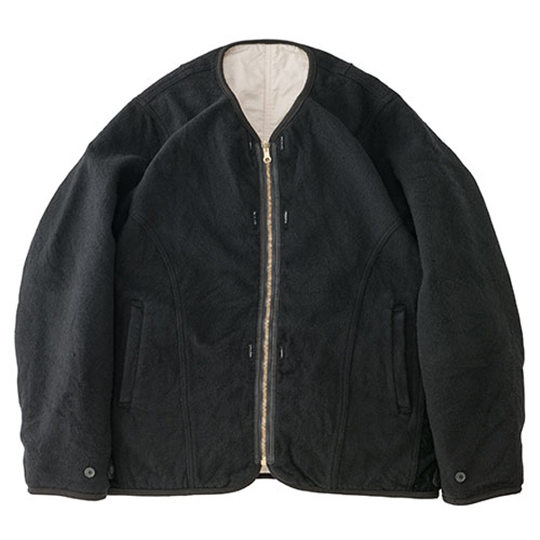 WAWONA DOWN JKT/BLACK (W/LI NEP TWEED)