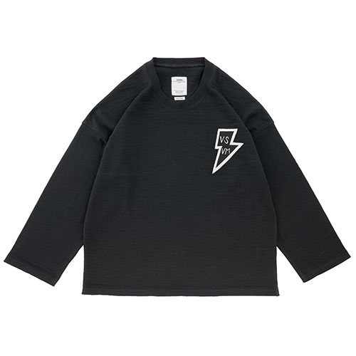 JUMBO CREWNECK SWEATER FR LTNG/BLACK