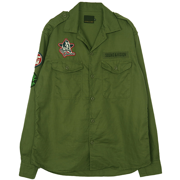 MILITARY SHIRT CHEST EMBLEM/KHAKI
