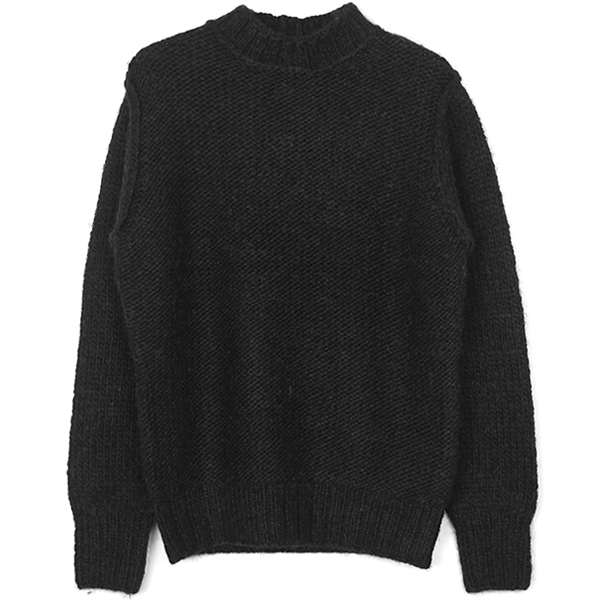 BELLONE HANDKNITTING PULLOVER/BLACK