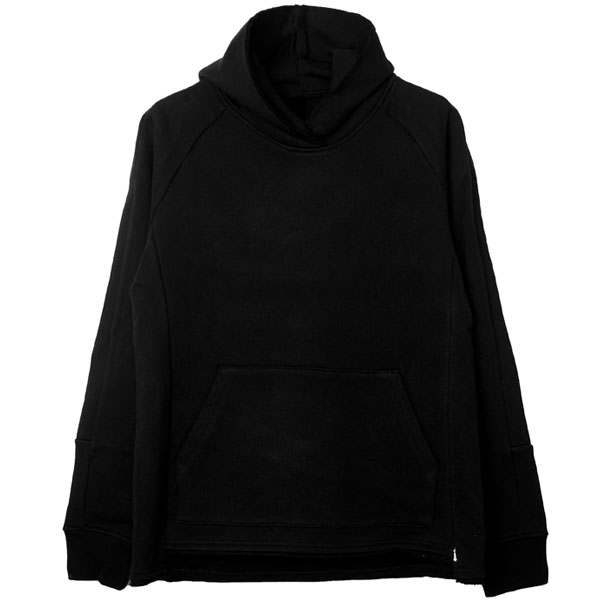 side line pull over parka/black