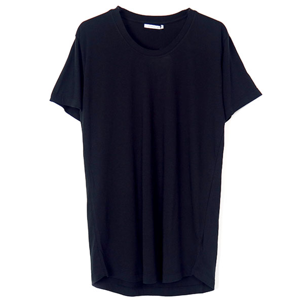 CURVE U-NECK TEE/SUPIMA MODAL/BLACK