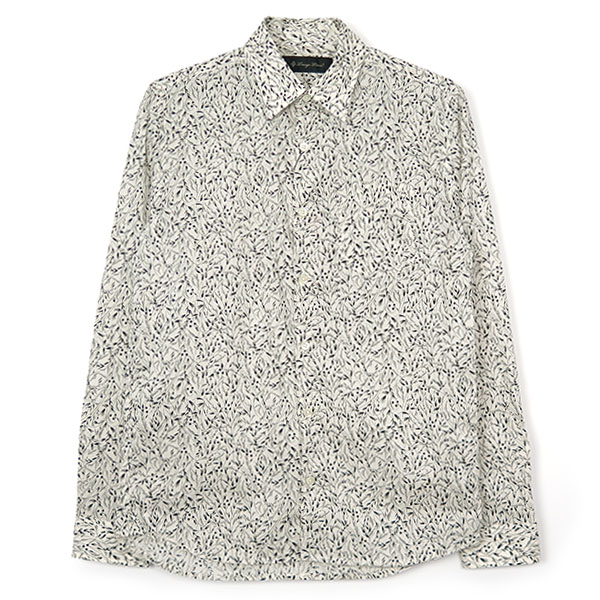 BOTANICAL PRINT SHIRT/WHITE