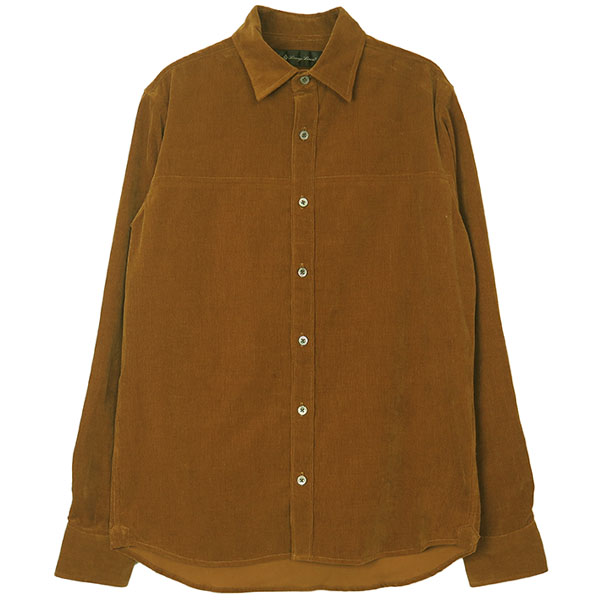 MICRO CORDUROY SHIRT/BROWN