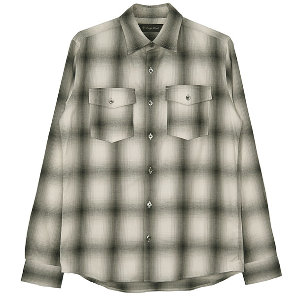 SHAGGY CHECK SHIRTS/L.GRAY/BLACK