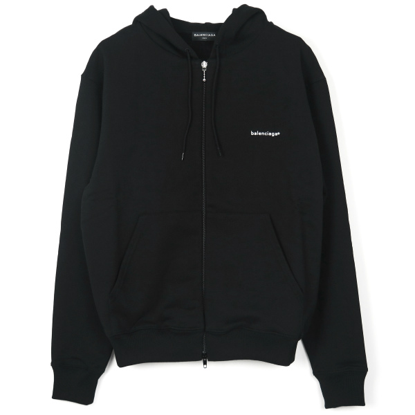 ZIP-UP HOODIE/BLACK