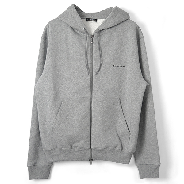 ZIP-UP HOODIE/HEATHER GRAY