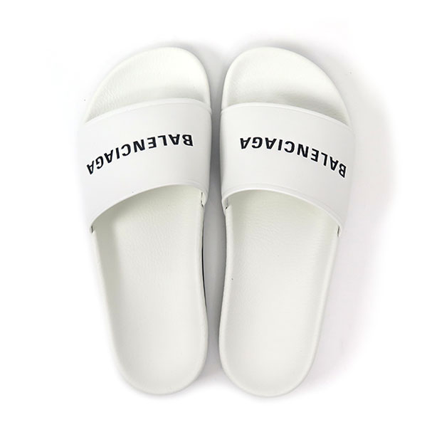 LEATHER SANDAL/BLANC/NOIR