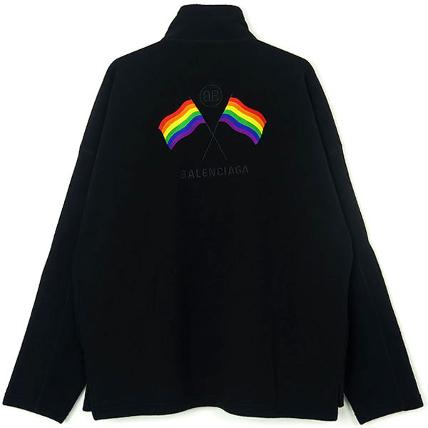 RAIMBOW FLAGS SWEATER/BLACK