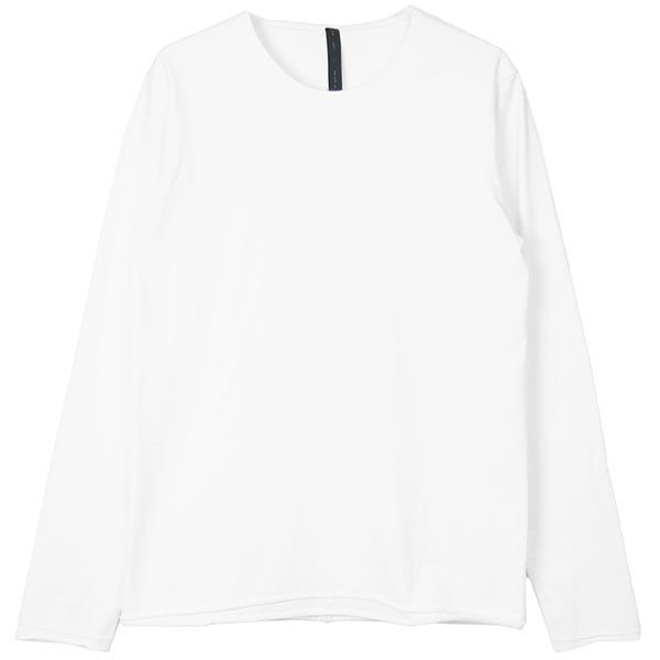 2-ply crew neck L/S/white