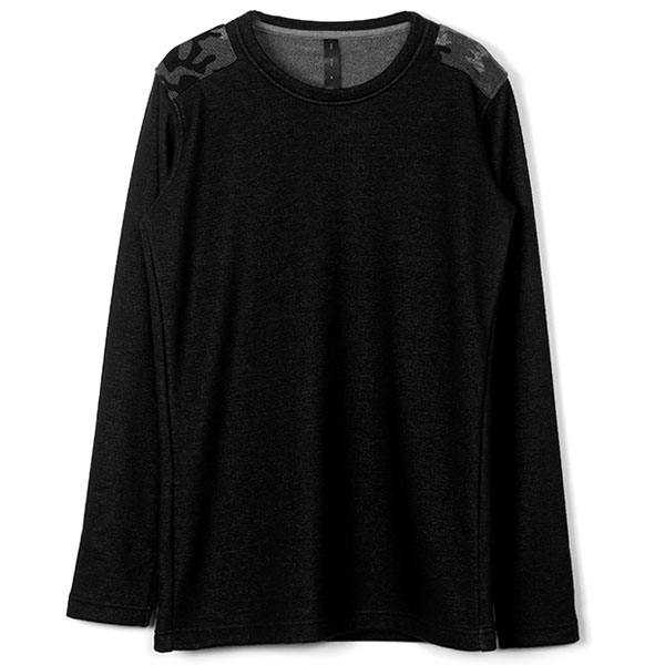 back fleece army long-T/black