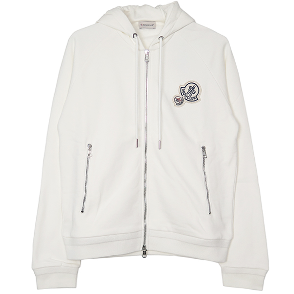 MAGLIA ZIP UP HOODIE/WHITE