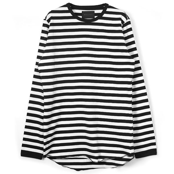 MAHABAR BORDER LONG SLEEVE/BLACK/WHITE