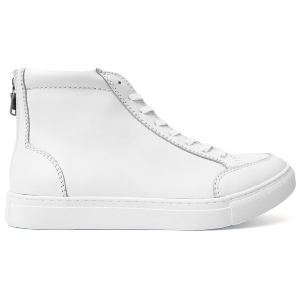 zip HI-cut/white