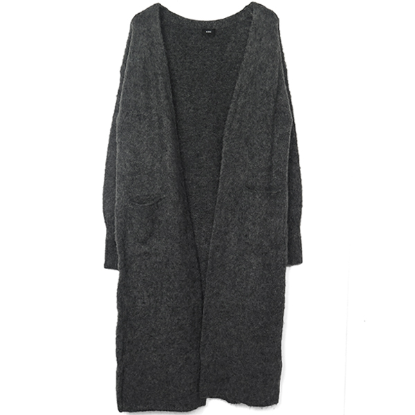 Mohair Long Cardigan/モクグレー