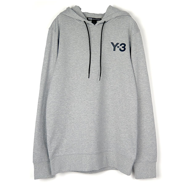 CL HOODIE LOGO FRONT/GRAY