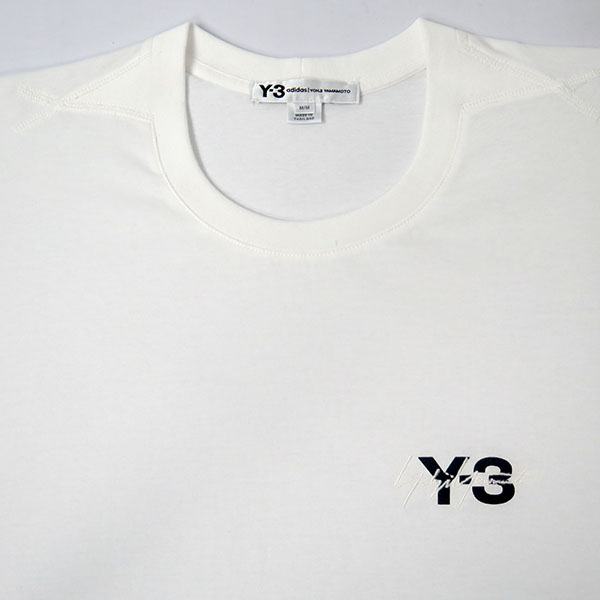 Y-3 SIGNATURE SS TEE/WHITE